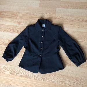 Cabi blazer black buttoned down size:4 comfy